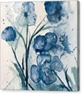 Painterly  Blues Canvas Print