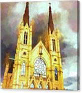 Painterly Church Canvas Print