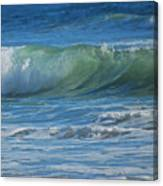 Painterly Waves Canvas Print