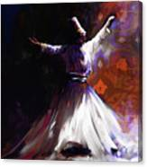 Painting 716 2 Sufi Whirl 2 Canvas Print