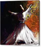 Painting 716 3 Sufi Whirl 2 Canvas Print