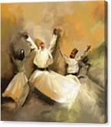Painting 717 1 Sufi Whirl 3 Canvas Print