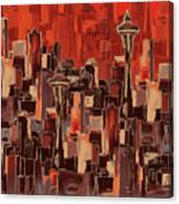 Painting 773 1 Seattle Skyline Canvas Print