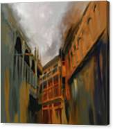 Painting 791 4 Wooden Architecture Canvas Print