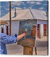 Painting Barrio Viejo Canvas Print