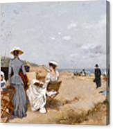 Painting On The Beach  Canvas Print