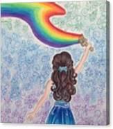Painting Rainbow Canvas Print