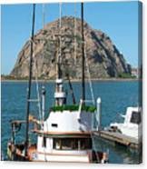 Painting The Trudy S Morro Bay Canvas Print