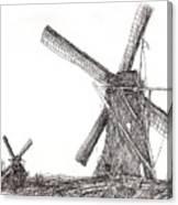 Pair Of Windmills 2016 Canvas Print