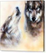 Pair Of Wolves Canvas Print
