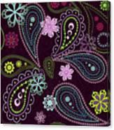 Paisley Abstract Design Canvas Print