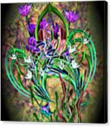 Paisley Floral Canvas Print