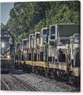 Pal Military Train Roll-by Canvas Print