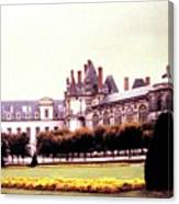 Palace Of Fontainebleau 1955 Canvas Print