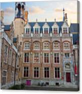 Palace Of Gruuthuse In Brugge Canvas Print