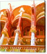 Palau De La Musica Catalana Window Canvas Print