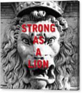 Palazzo Pitti Firenze Lion Canvas Print