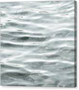 Pale Aqua Water Ripples Canvas Print