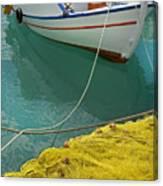 Paleohora Fishing Boat Canvas Print