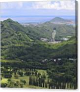 Pali Across Canvas Print