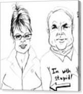 Palin And Mccain What A Pair Canvas Print