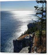 Palisade Head Lake Superior Minnesota Winter Afternoon Canvas Print