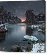 Palisades First Snow Canvas Print