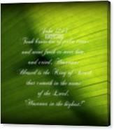 Palm Branch Canvas Print