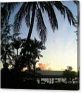 Palm Silhouette Canvas Print