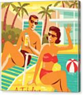 Palm Springs Poster - Retro Travel Canvas Print