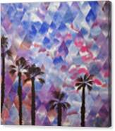 Palm Springs Sunset Canvas Print