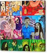 Palm Sunday Vignetes Canvas Print
