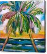 Palm Tree Color Times Two Canvas Print