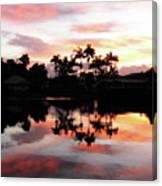Palm Tree Inlet 2 Canvas Print