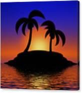 Palm Tree Island Canvas Print