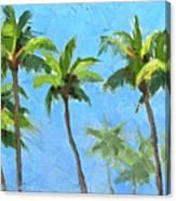 Palm Tree Plein Air Painting Canvas Print