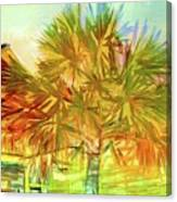 Palm Tree Portrait Canvas Print