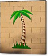 Palm Tree Sign Canvas Print