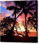 Palm Tree Silhouette Canvas Print