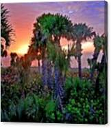 Palm Tree Sunset Canvas Print