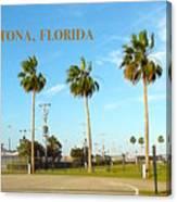 Palm Trees Of Daytona Florida Canvas Print