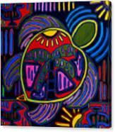 Palm Turtle Mola Canvas Print