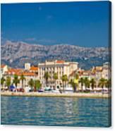 Palm Waterfront Of Split City Canvas Print