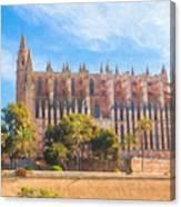 Palma Cathedral D40180 Canvas Print