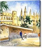 Palma De Mallorca Cathedral Canvas Print