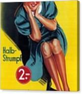 Palmers - Halb-strumpf - Vintage Germany Advertising Poster Canvas Print