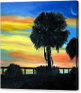 Palmetto Nights Canvas Print