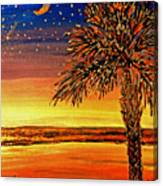 Palmetto Sunset  Canvas Print