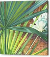 Palmettos And Stellars Blue Canvas Print