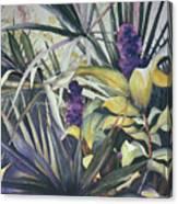 Palms And Hyacinths Canvas Print